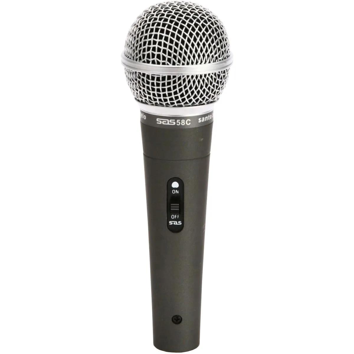 Microfone Dinâmico Santo Angelo SAS-58C com Fio
