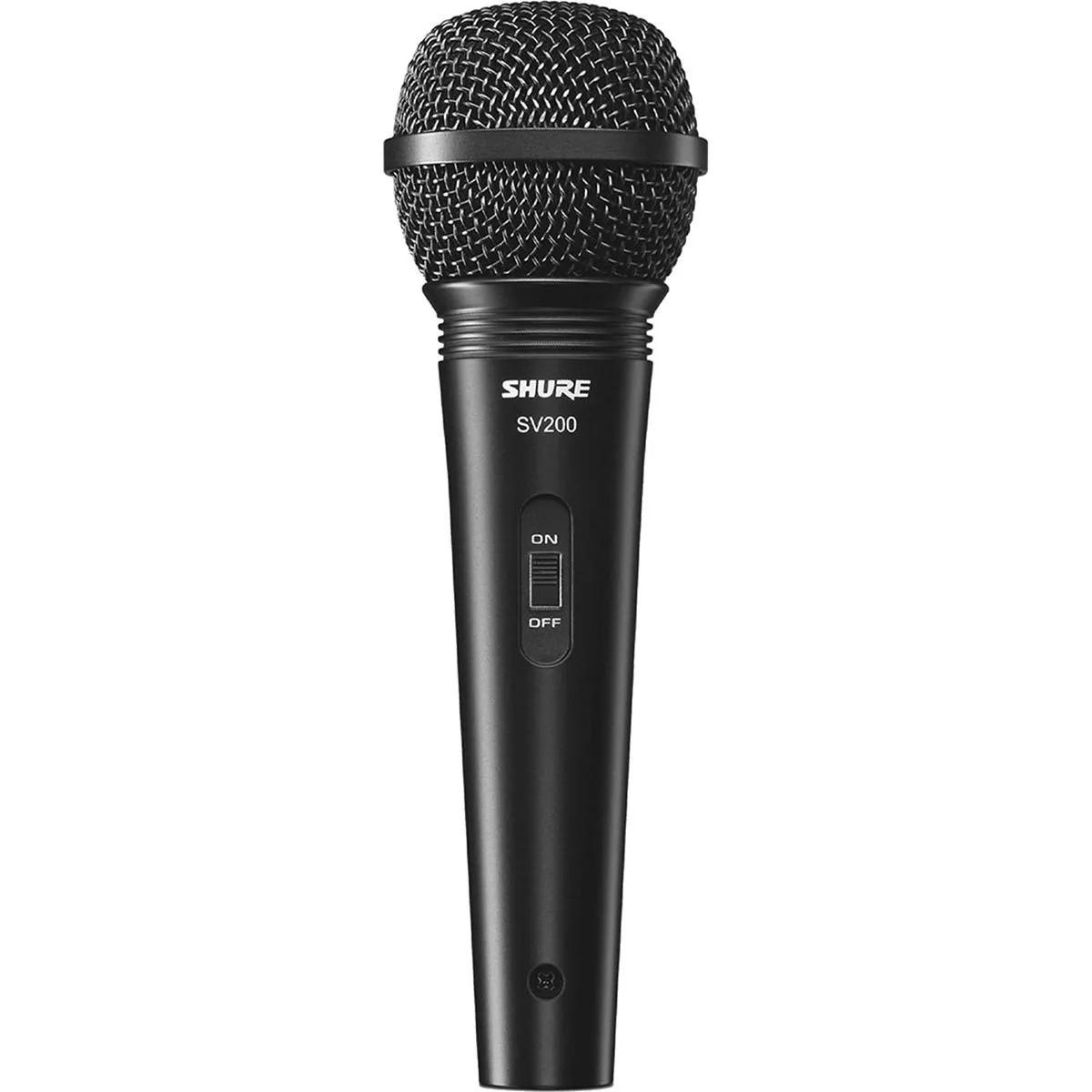 Microfone Dinâmico Shure SV200 com Fio