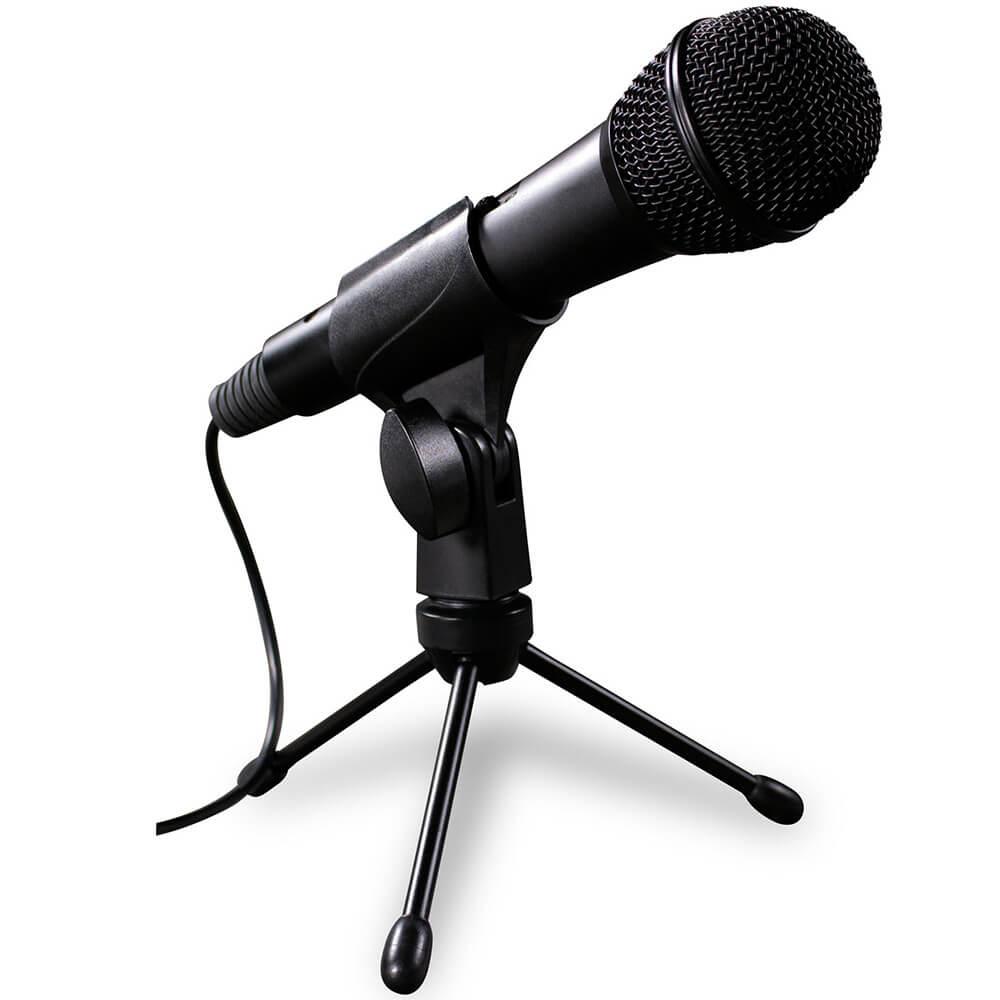 Microfone Dinâmico SKP PODCAST-300U com Cabo USB e Suporte