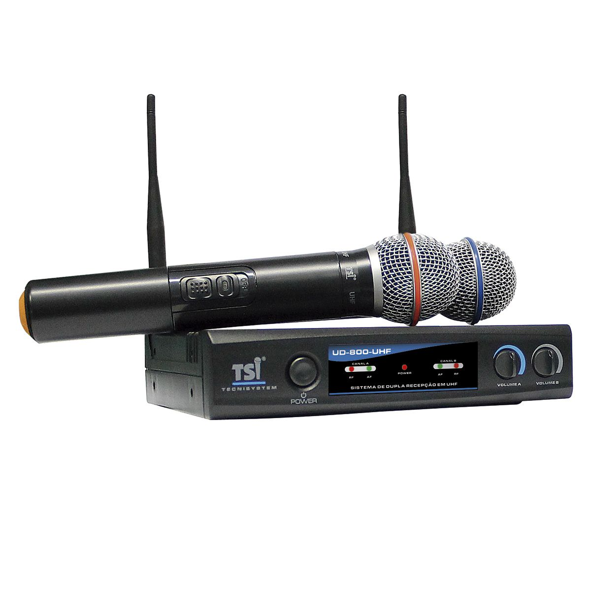 Microfone Duplo Sem Fio TSI UD800-UHF