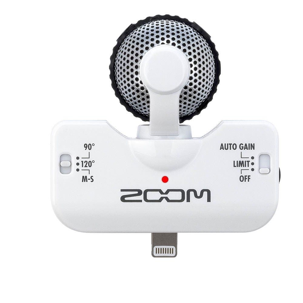 Microfone Estéreo Zoom IQ5 para Iphone WHITE