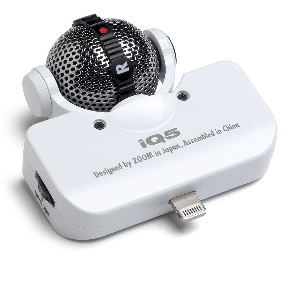 Microfone Estéreo Zoom IQ5 para Iphone WHITE