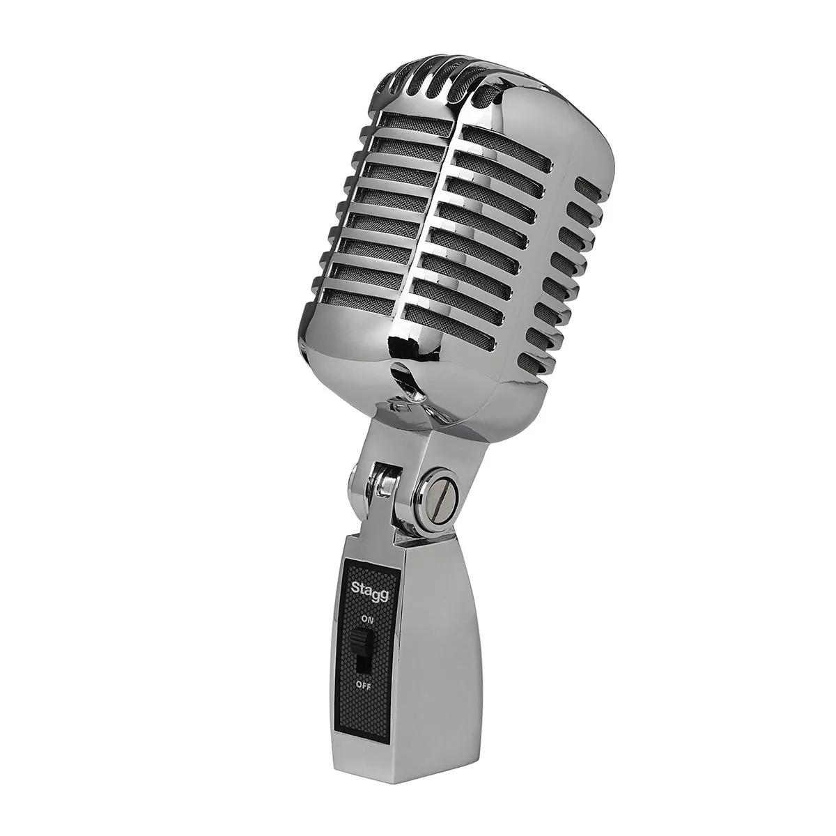 Microfone Profissional Stagg SDMP100 Cromado Vintage Style