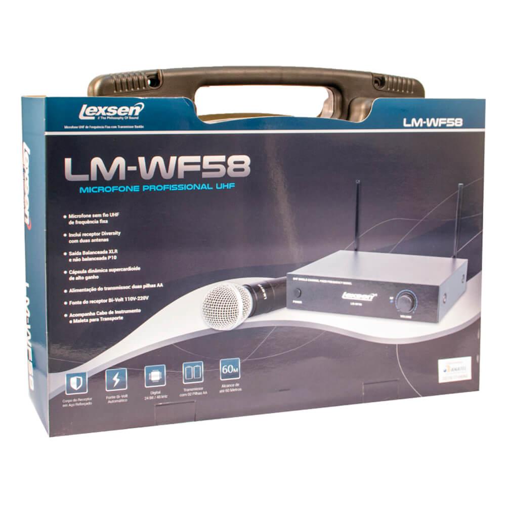 Microfone sem fio Bi-Volt - LM-WF58 - Lexsen
