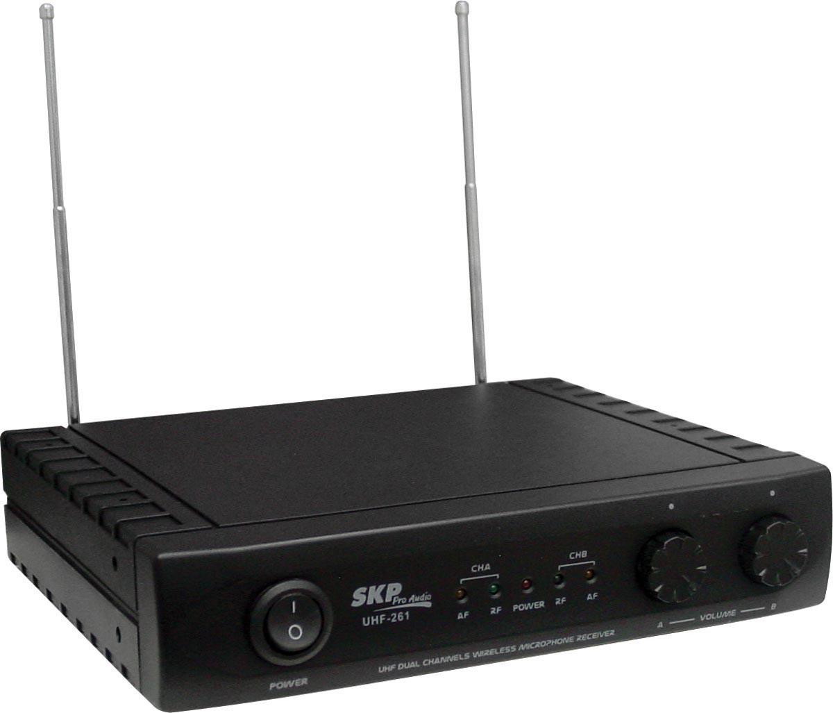 MICROFONE SEM FIO DE MÃO DUPLO UHF261
