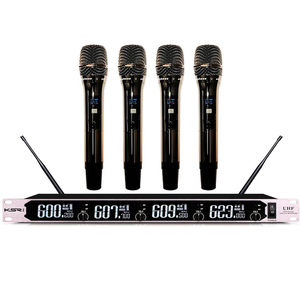 Microfone Sem fio Digital KSR Pro BS054 Quadruplo