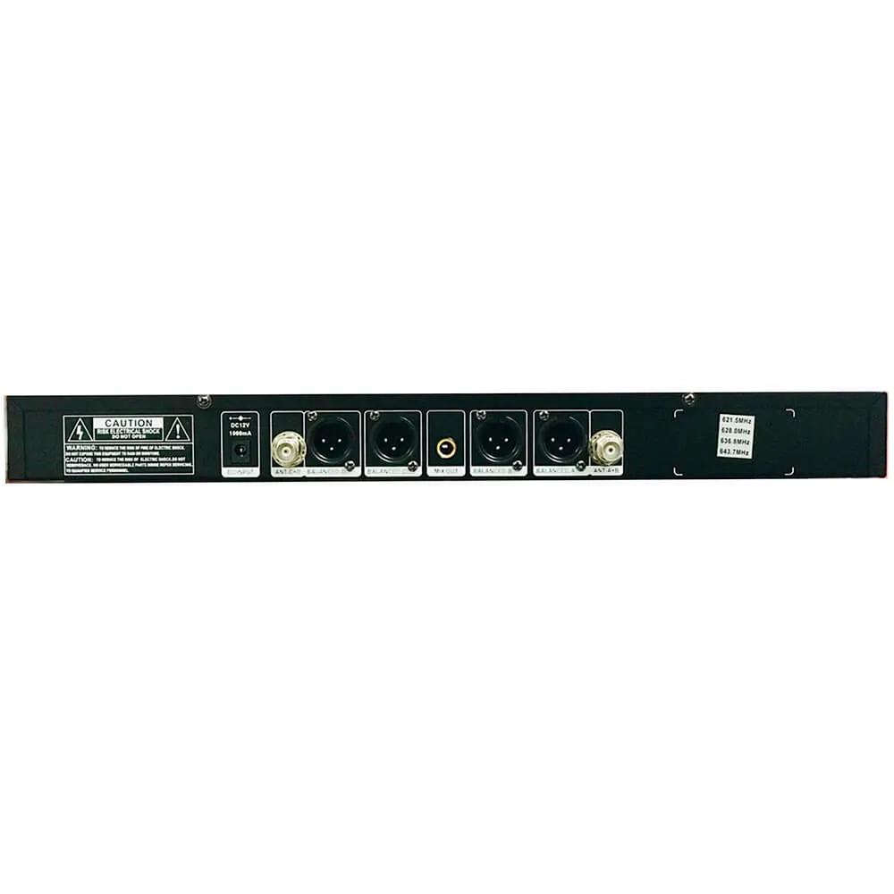 Microfone Sem Fio Digital KSR Pro KM10 Headset Quadruplo