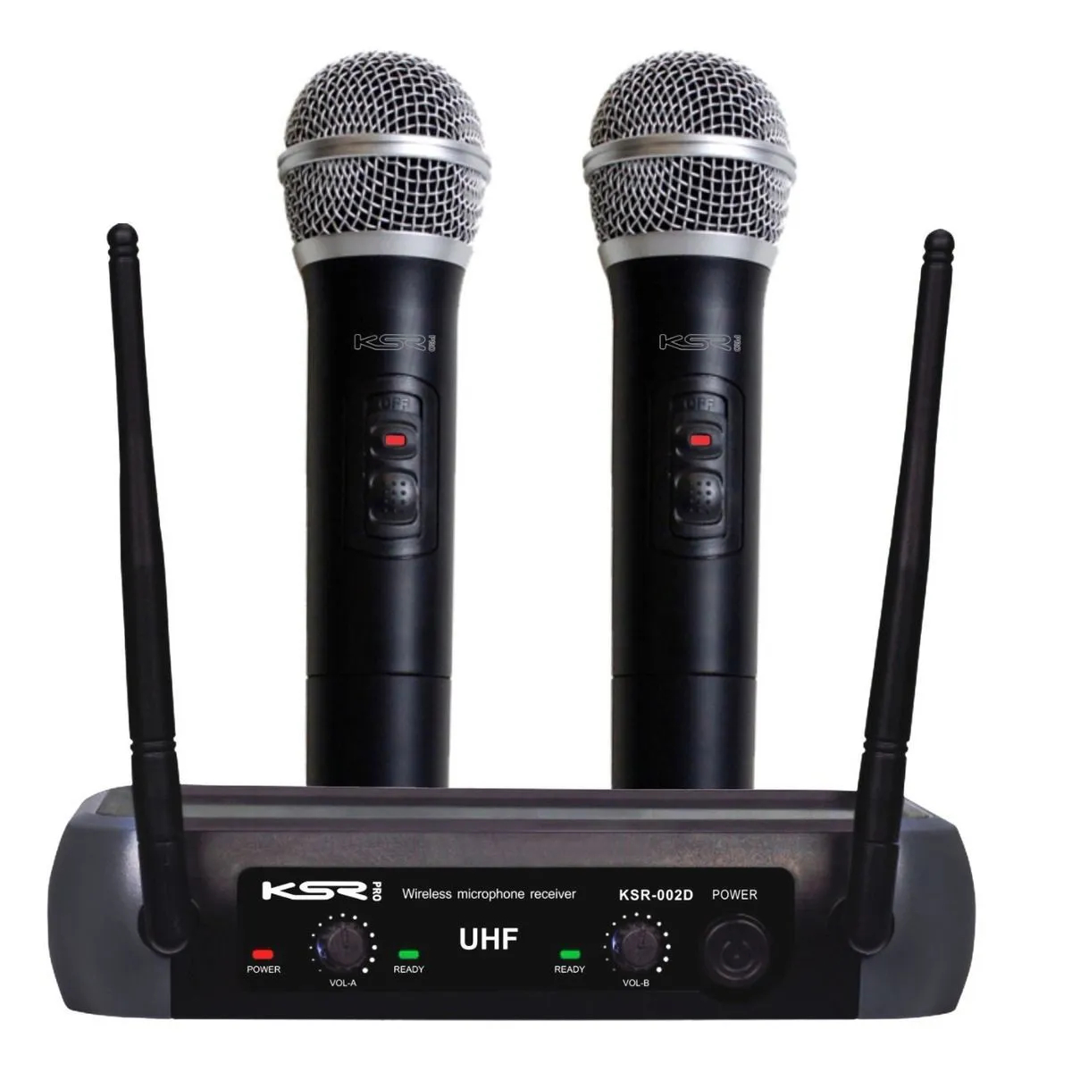 Microfone Sem Fio KSR Pro 002-D Duplo
