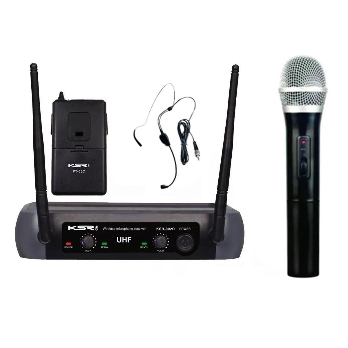 Microfone Sem Fio KSR Pro 002-D Headset