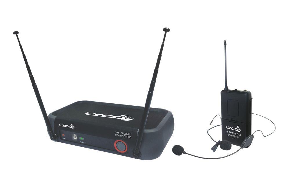 Microfone Sem Fio Lyco VH-102PRO HL Headset / Lapela VHF