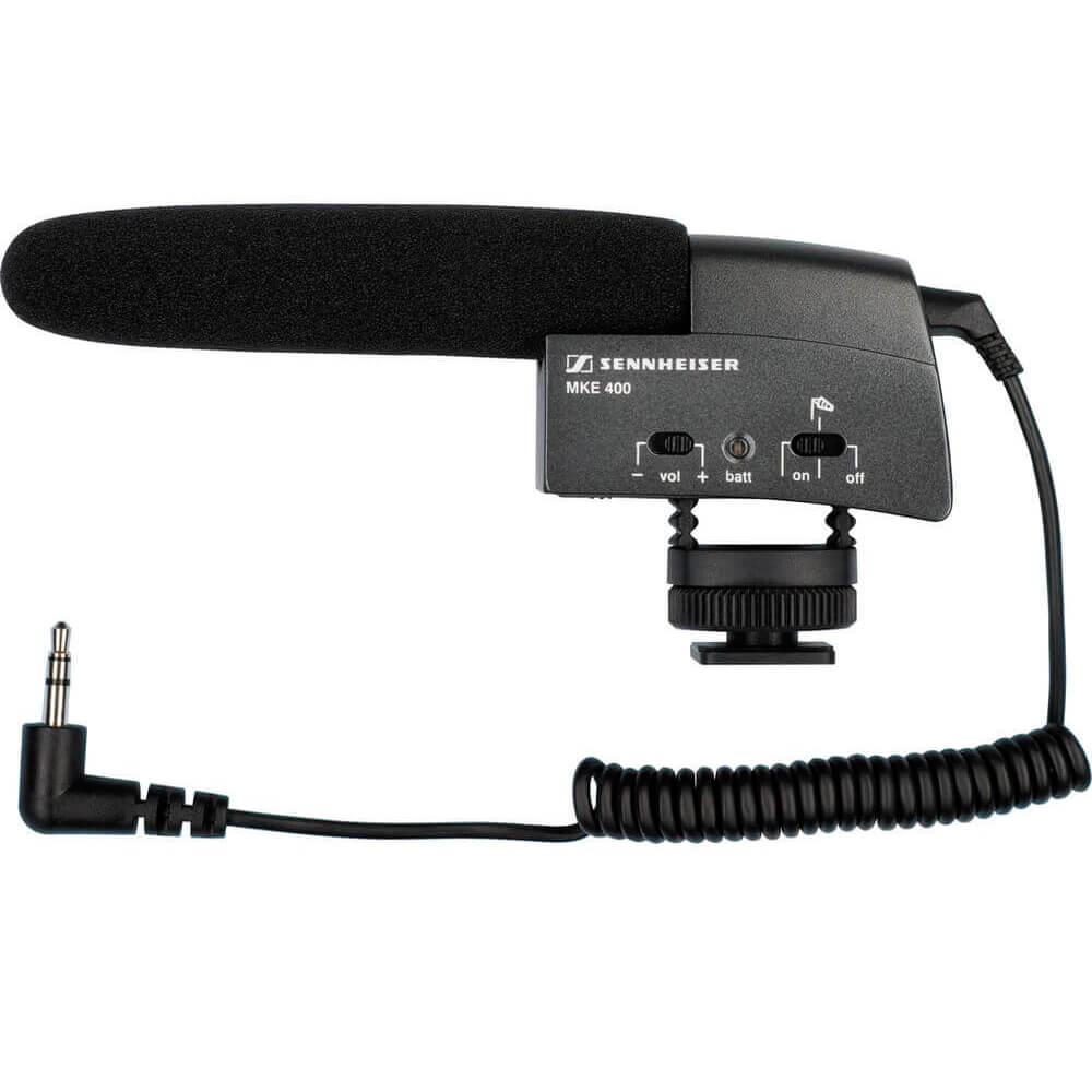 Microfone Sennheiser MKE 400 Preto Shotgun