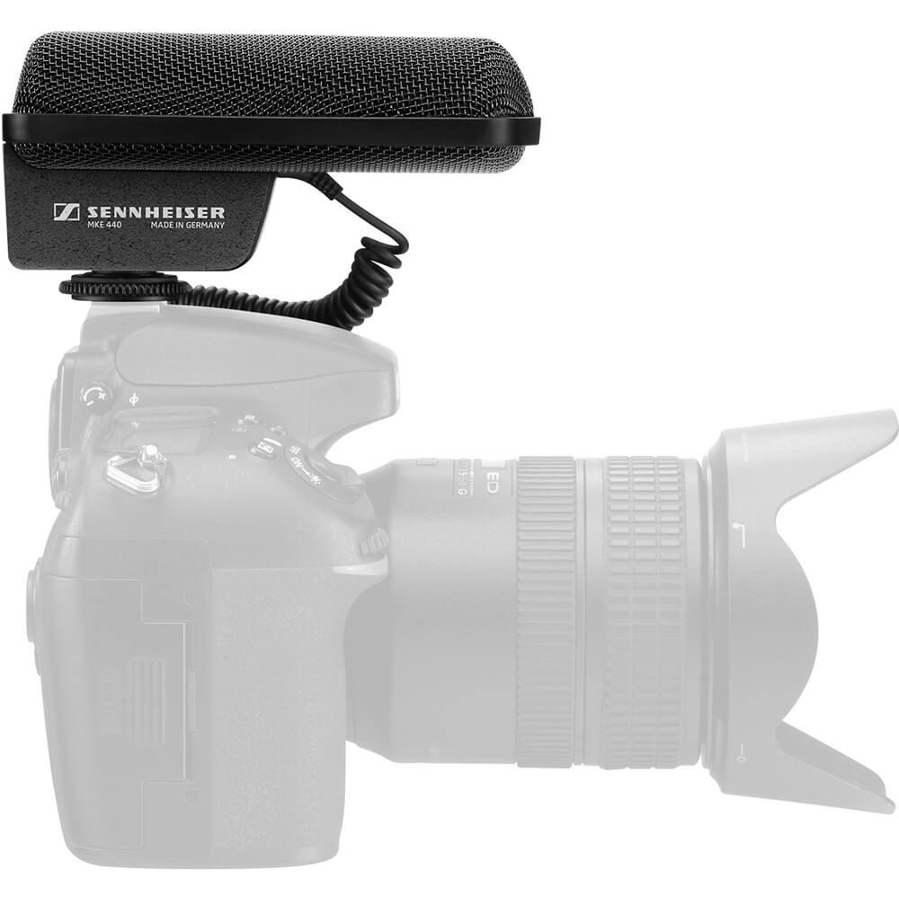 Microfone Sennheiser MKE 440 Preto Shotgun