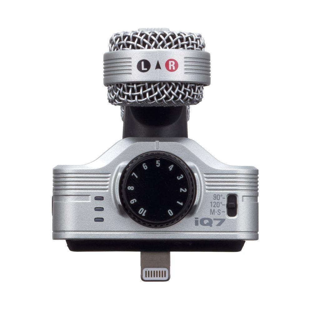 Microfone Zoom IQ7 Estéreo para iPhone e iPad