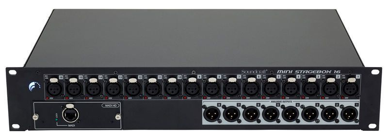 Mini Stagebox Soundcraft 16R CAT5 16 Canais
