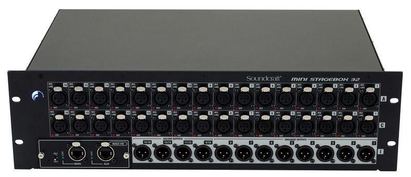 Mini Stagebox Soundcraft 32R CAT5 32 Canais