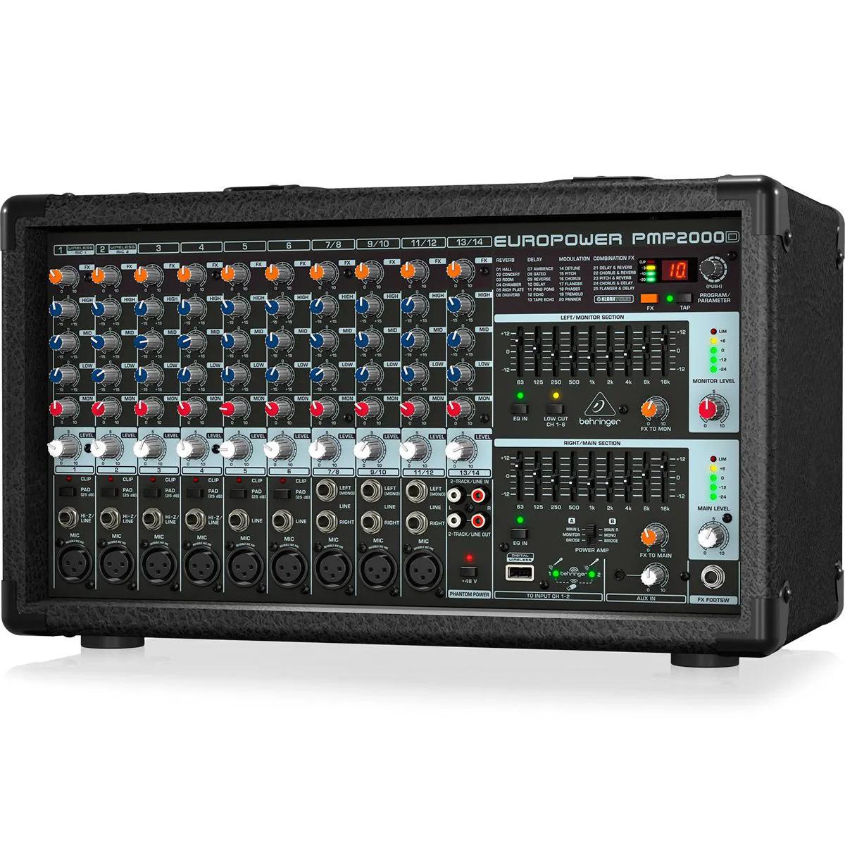 Mixer Behringer PMP2000D de 14 Canais 2000W