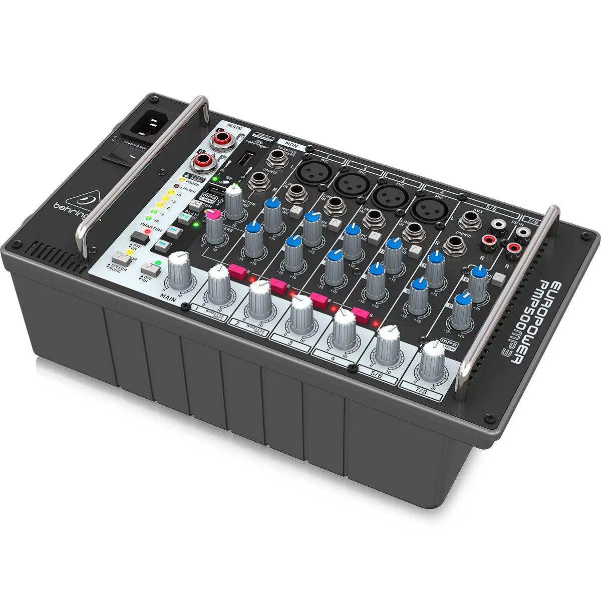 Mixer Behringer PMP500MP3 de 8 Canais 500W
