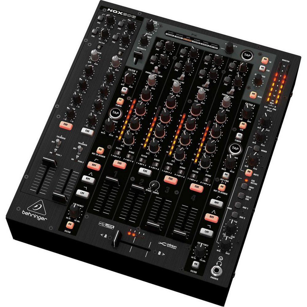 Mixer DJ Behringer Pro Mixer NOX606 6 Canais