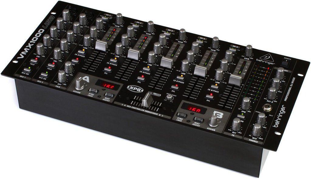 Mixer DJ Behringer Pro Mixer VMX1000 USB 7 Canais