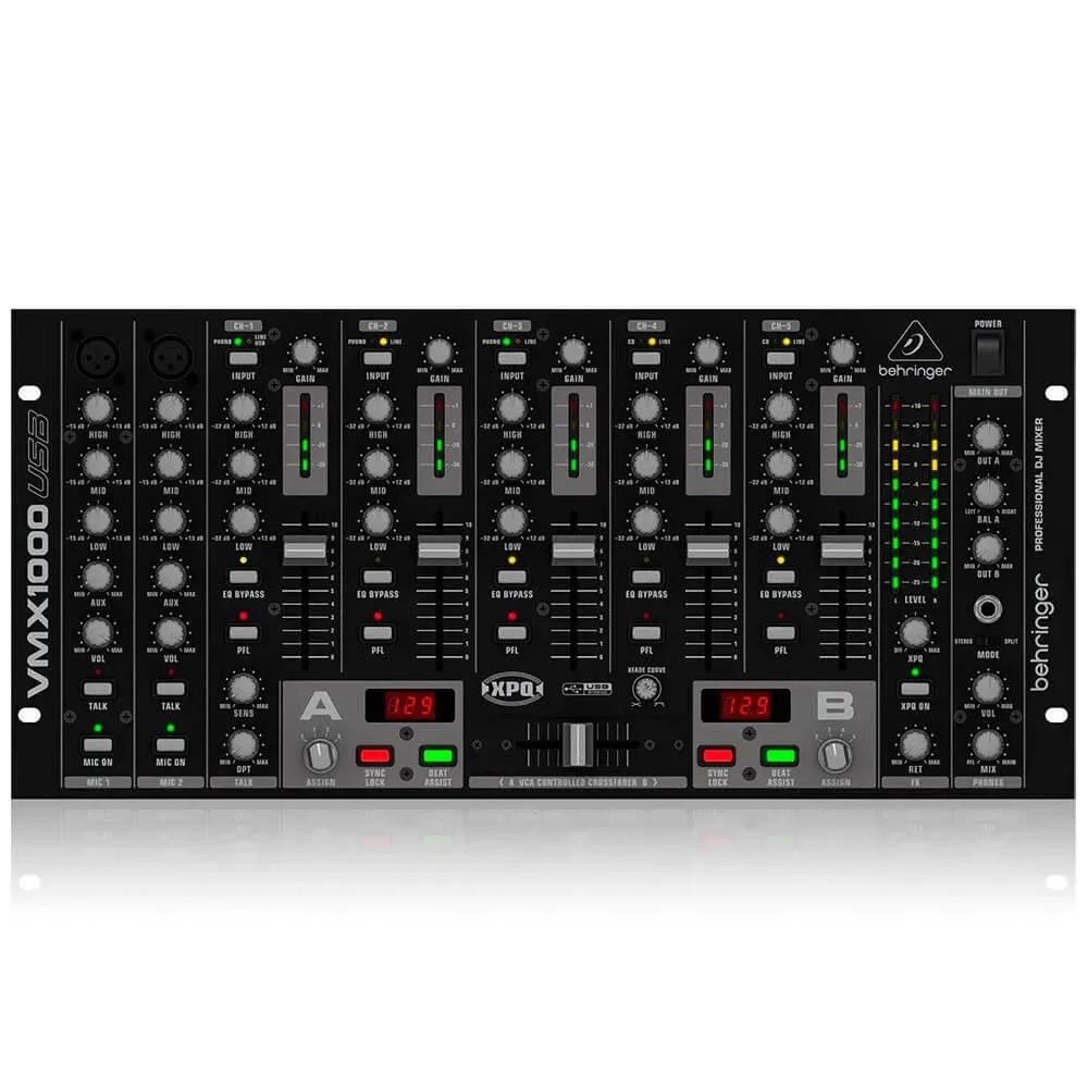 Mixer DJ Behringer VMX1000 Pro Mixer USB 7 Canais 110V