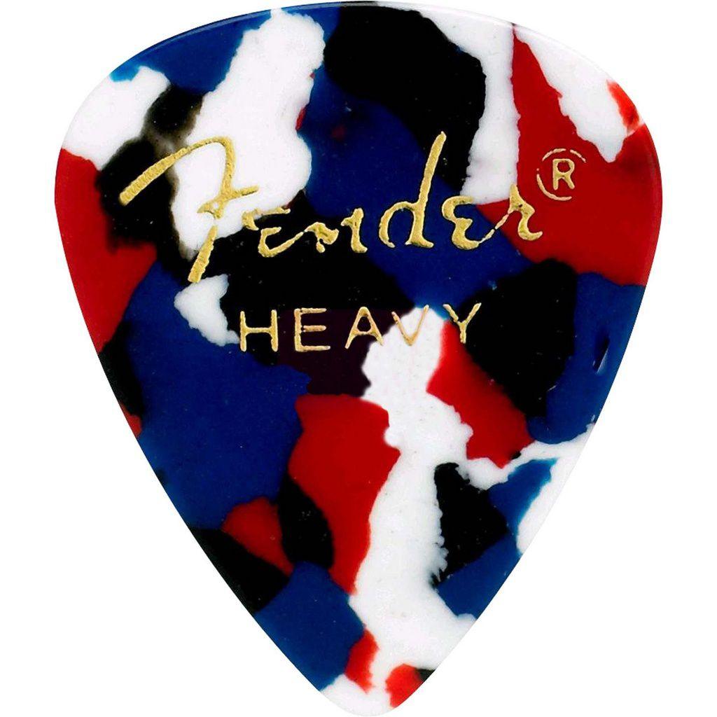 Palheta Fender Classic Celluloid Picks 351 Confetti Heavy