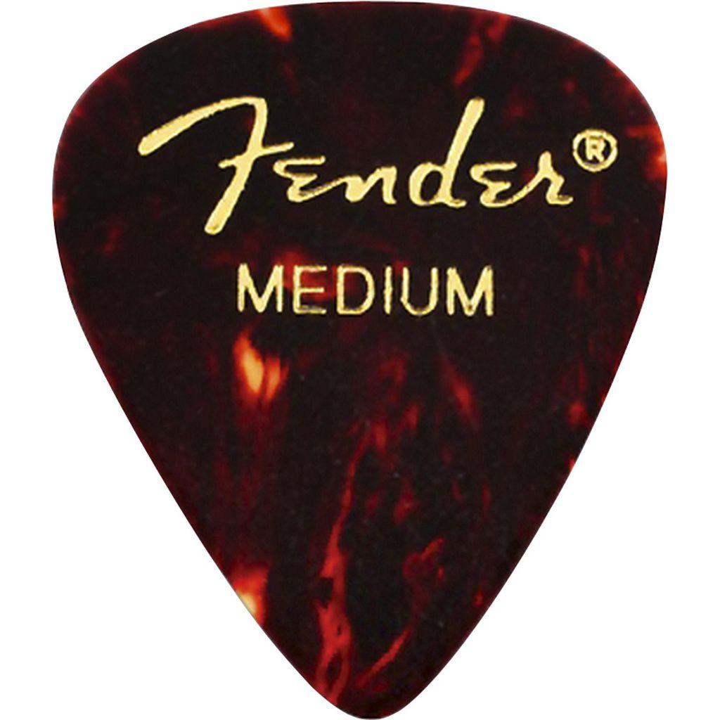 Palheta Fender Classic Celluloid Picks 351 Shell Medium