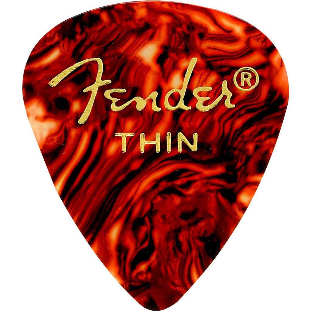Palheta Fender Classic Celluloid Picks 351 Shell Thin