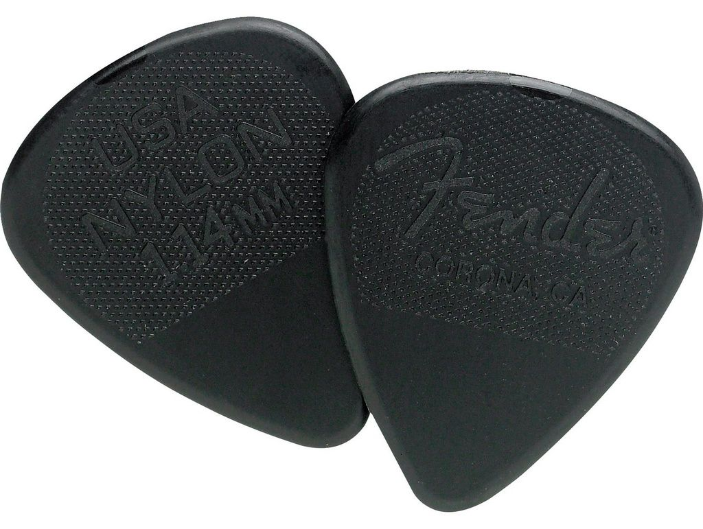 Palheta Fender Nylon Picks Extra Heavy Black