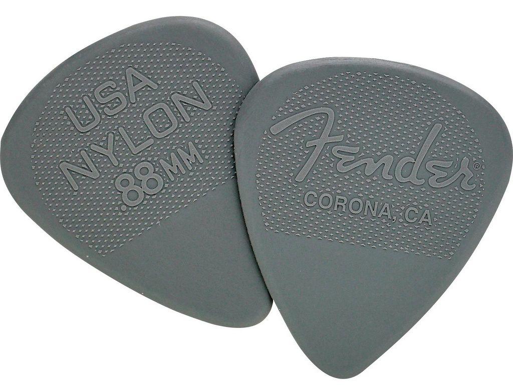 Palheta Fender Nylon Picks Medium Heavy Gray