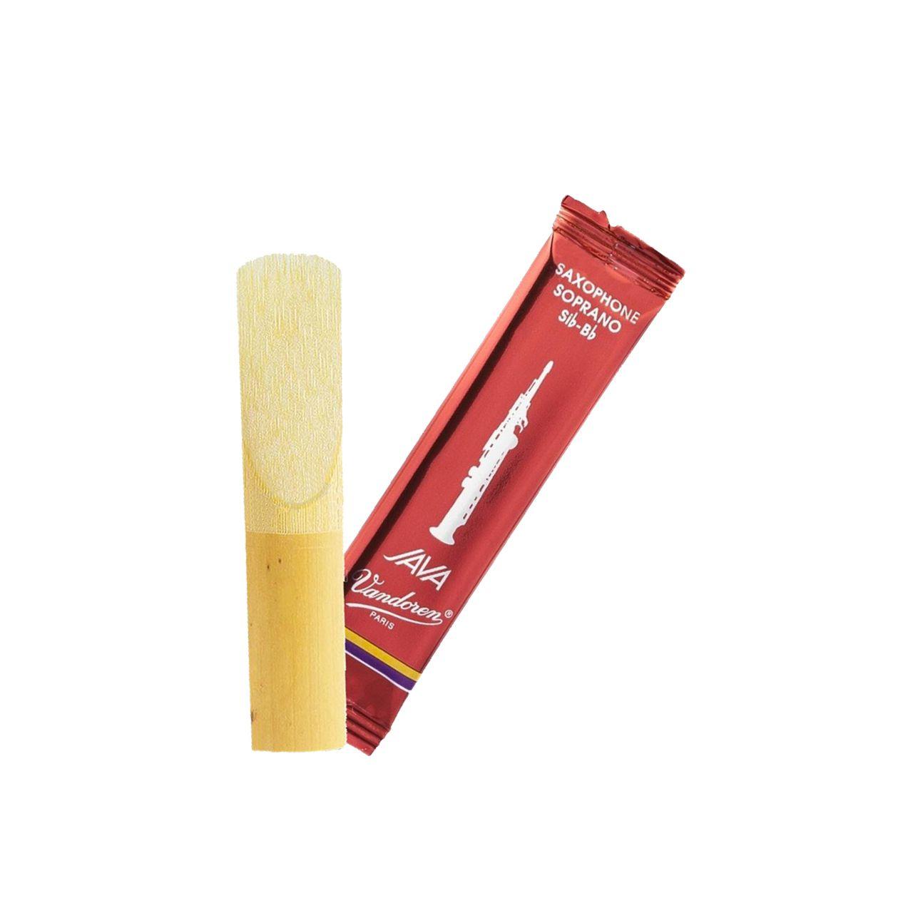 Palheta Java Red Cut 3 P/sax Soprano Cx C/10 Sr303r Vandoren