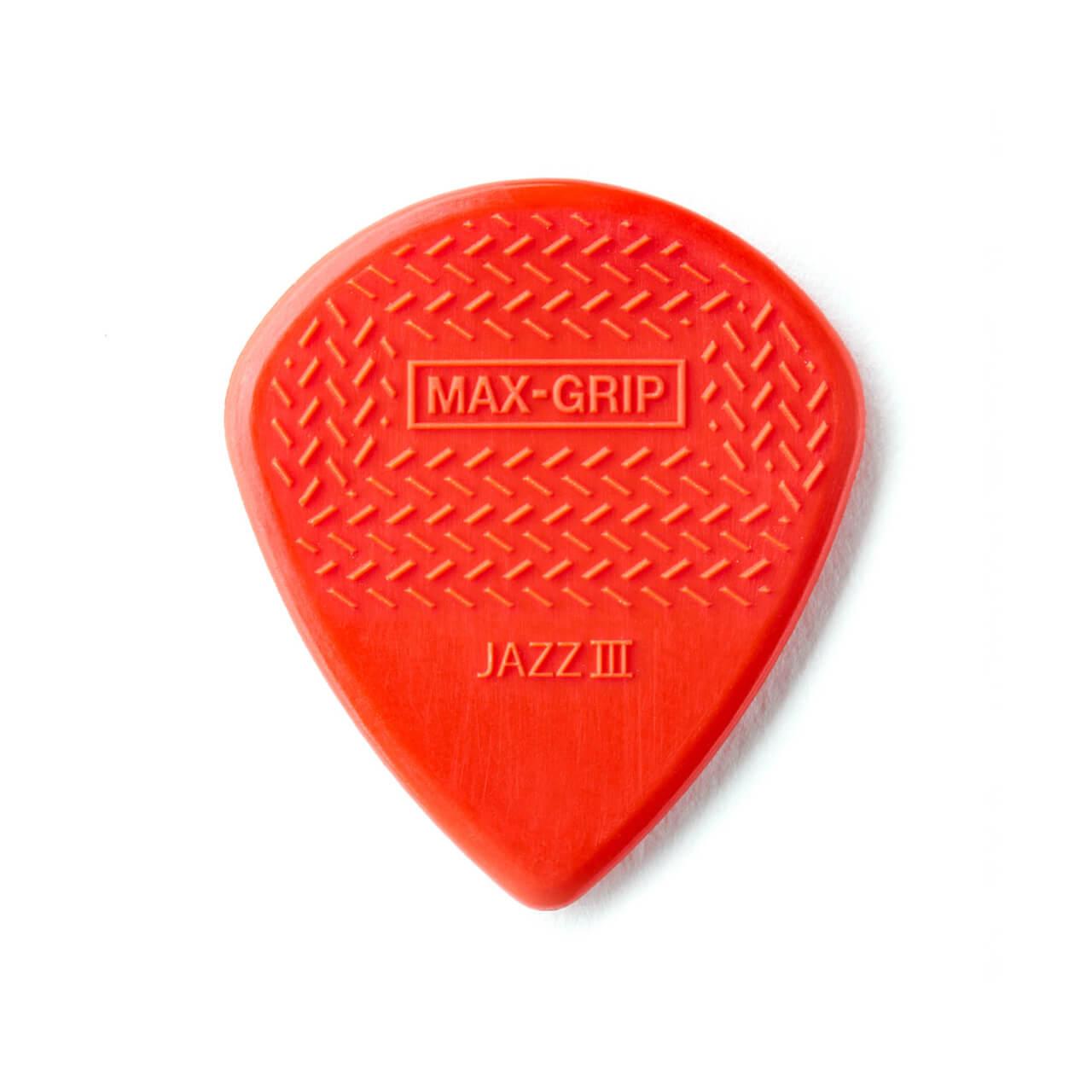 Palheta Maxgrip Nylon Jazz Iii Vermelha Pct C/6 471p3n Dunlop