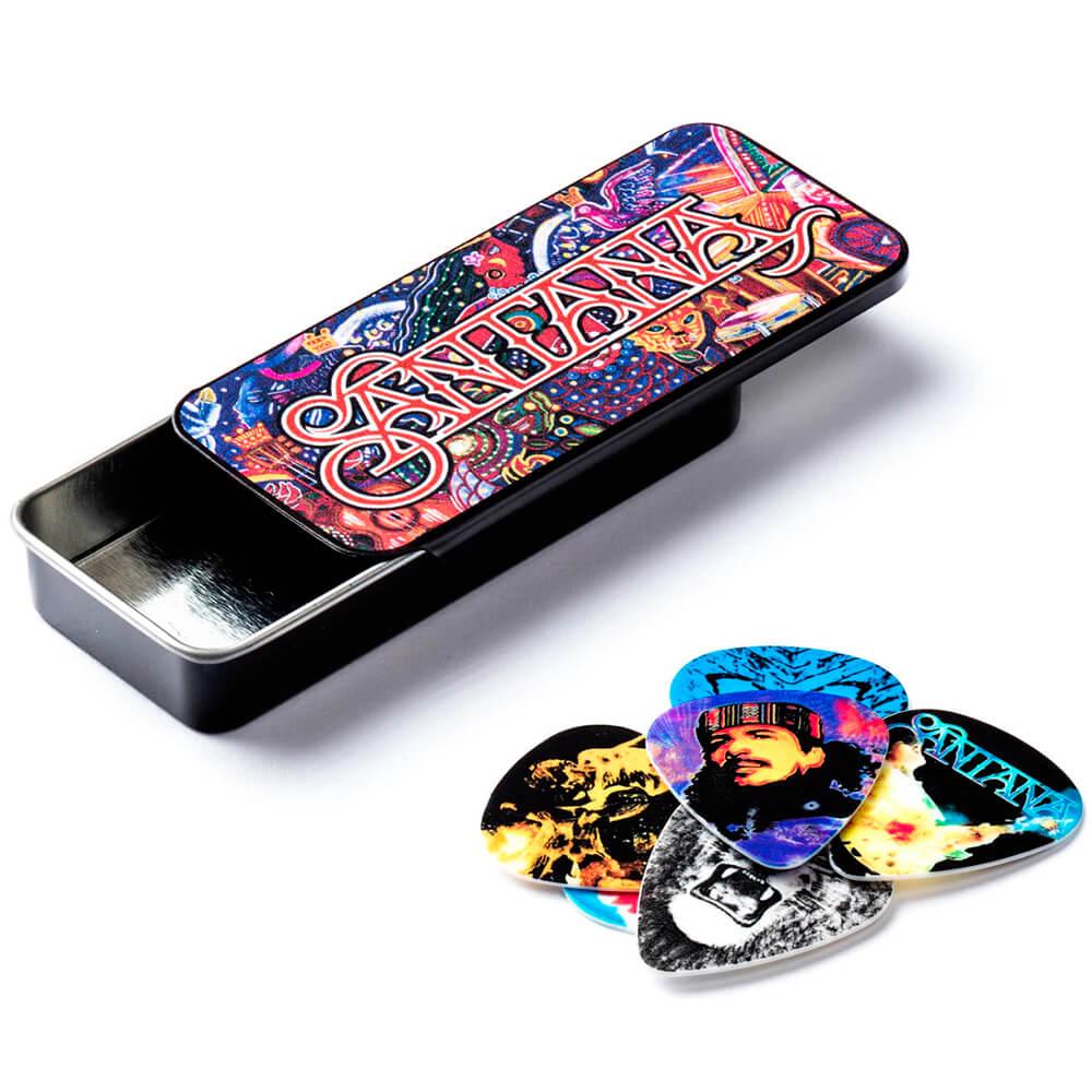 Palheta Media Carlos Santana Cx C/6 Sanpt01m Dunlop