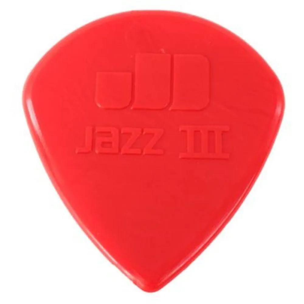 Palheta Nylon Dunlop Jazz III Vermelha