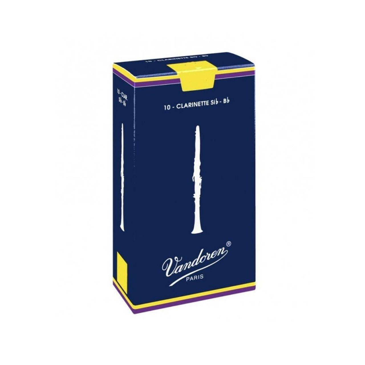Palheta Tradicional 4 P/clarinete Sib Cx C/10 Cr104 Vandoren