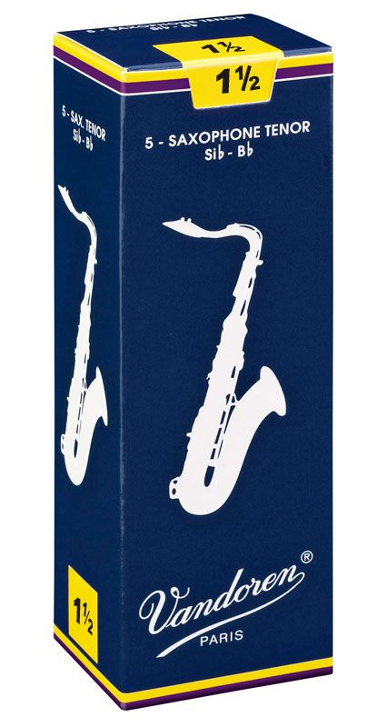 Palheta Tradicional Vandoren Nº 1,5 para Sax Tenor