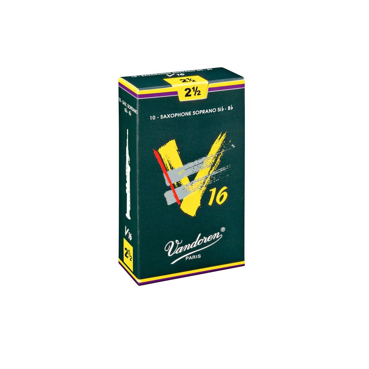 Palheta V16 2,5 P/sax Soprano Cx C/10 Sr7125 Vandoren