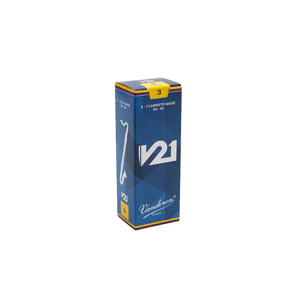 Palheta V21 3 P/clarinete Baixo Cx C/5 Cr823 Vandoren