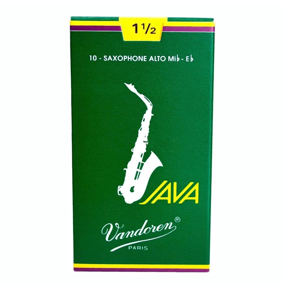 Palheta Vandoren Java Nº 1,5 para Sax Alto