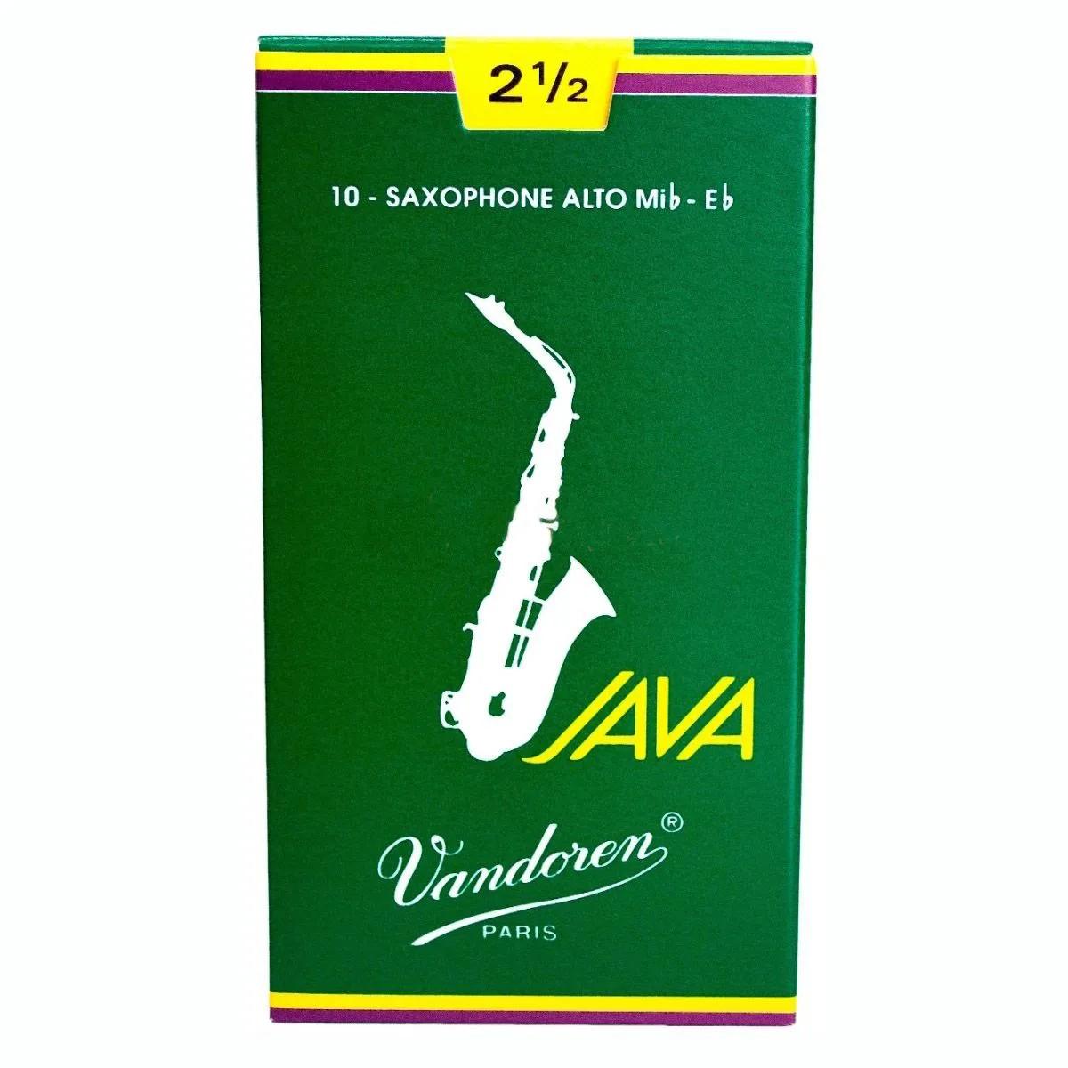 Palheta Vandoren Java Nº 2,5 para Sax Alto
