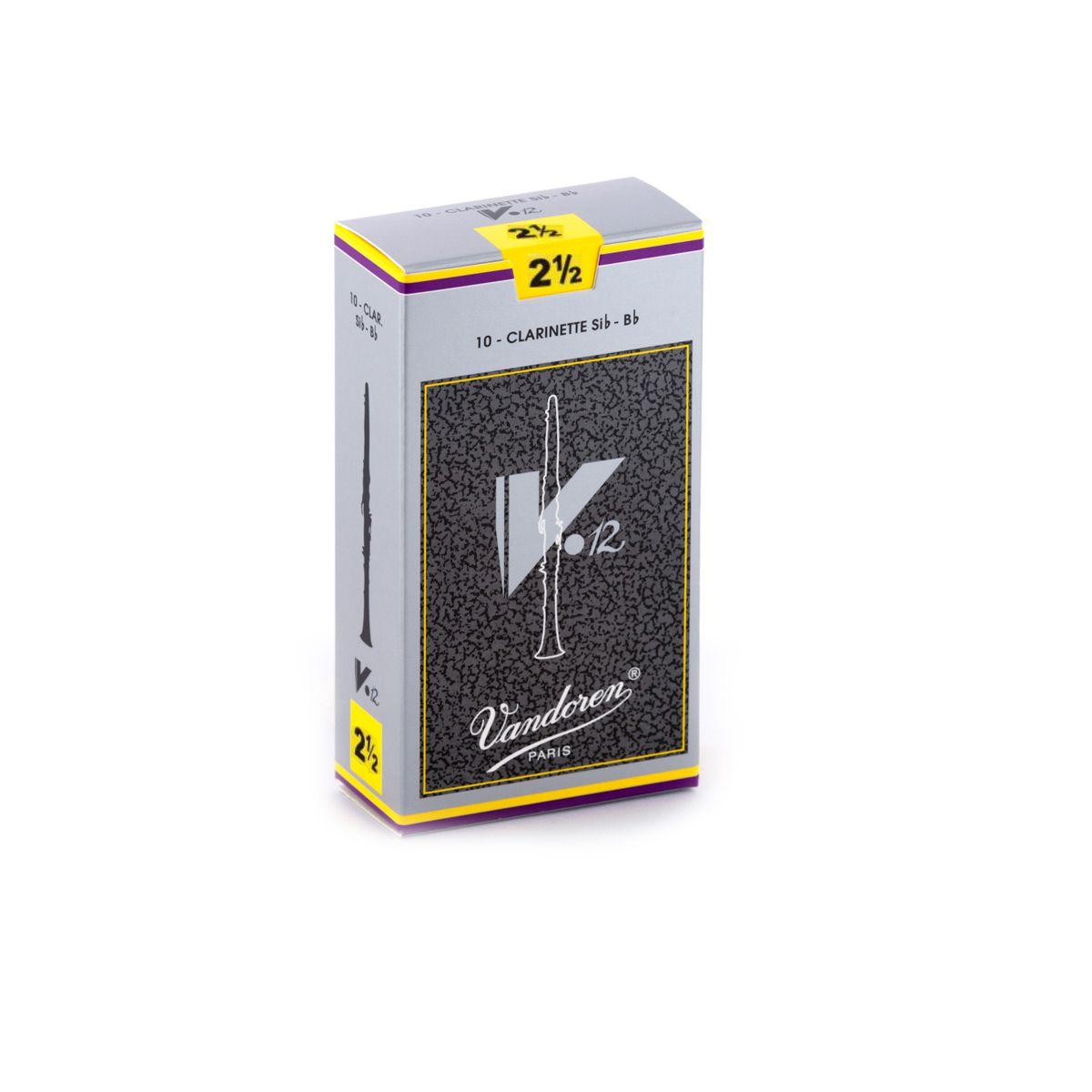 Palheta Vandoren V12 Nº 2,5 para Clarinete Sib