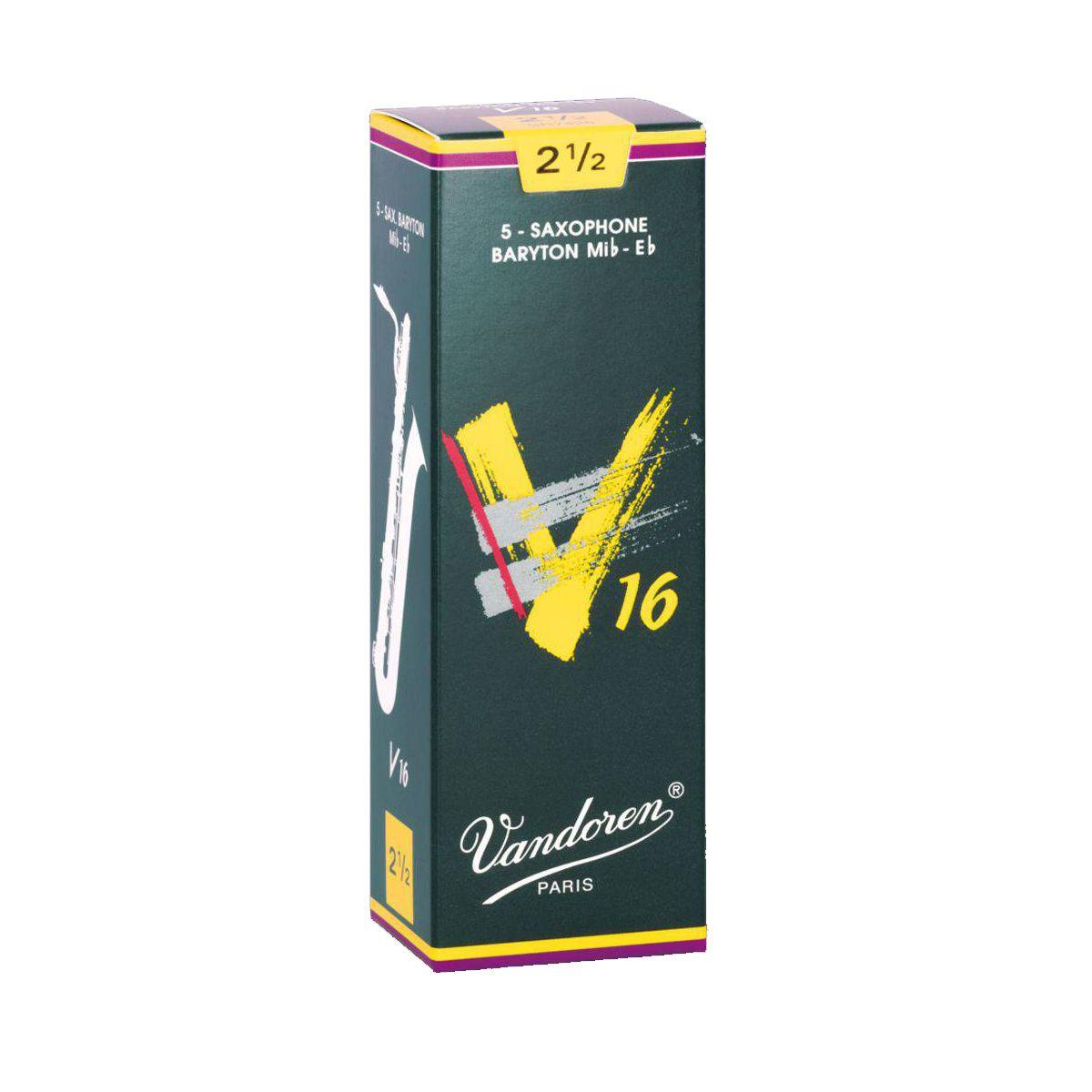Palheta Vandoren V16 Nº 2,5 para Sax Barítono