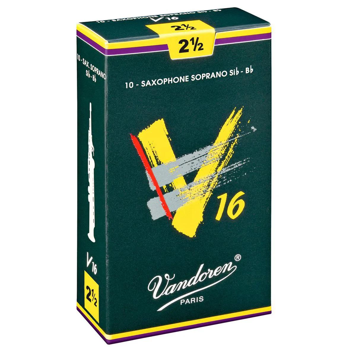 Palheta Vandoren V16 Nº 2,5 para Sax Soprano