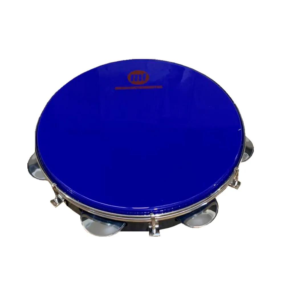 Pandeiro Acrílico Phx 98A BL 10 Azul Pele Leitosa Azul