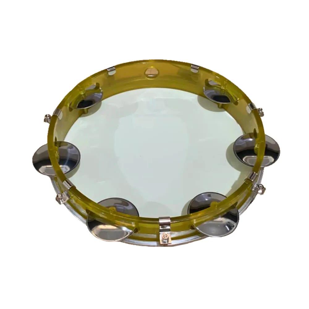 Pandeiro Acrílico Phx 98A YL 10 Amarelo Pele Leitosa Amarela