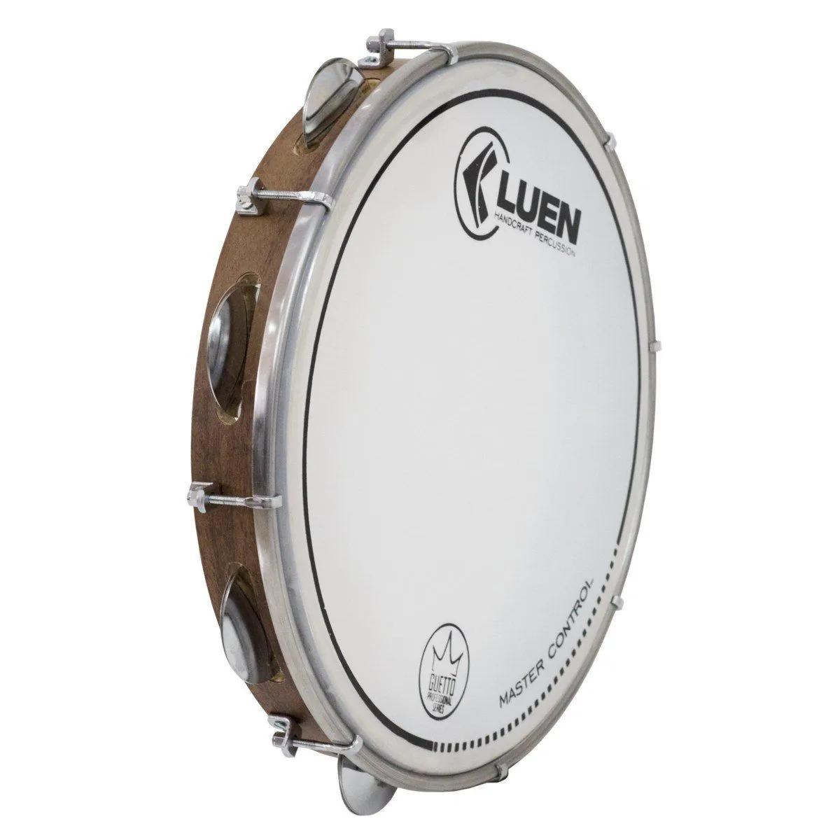 Pandeiro Luen Percussion 10 Cromadas Pele Master Control