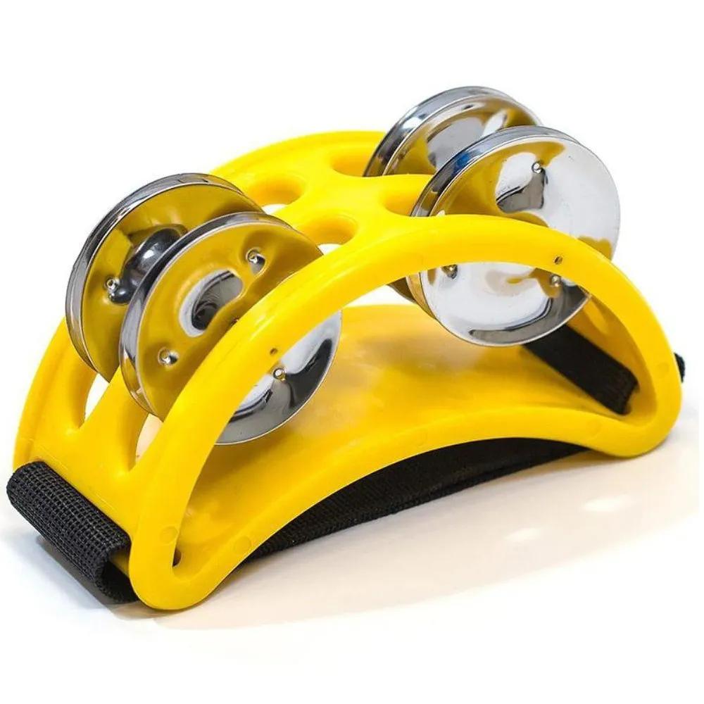 Pandeirola de Pé Spanking Polietileno Amarelo