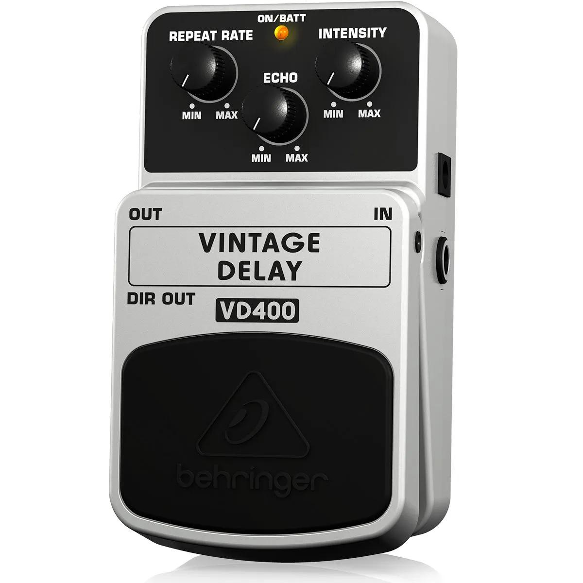 Pedal de Efeito Analógico Vintage Behringer VD400 Delay