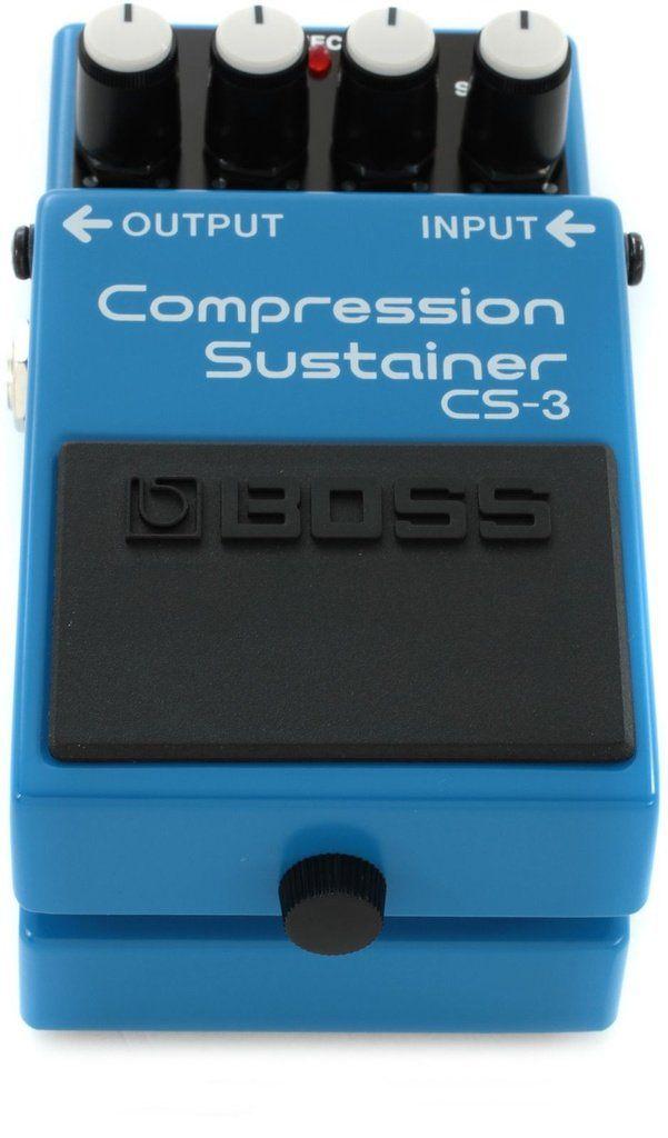 Pedal de Efeito Boss Compression Sustainer CS3 para Guitarra