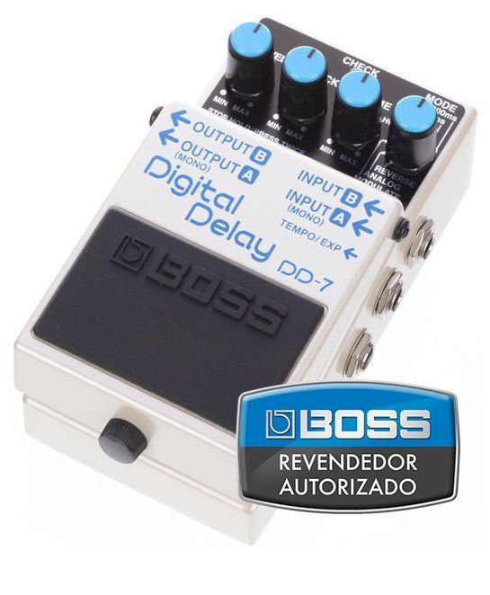 Pedal de Efeito Boss Digital Delay DD7 para Guitarra