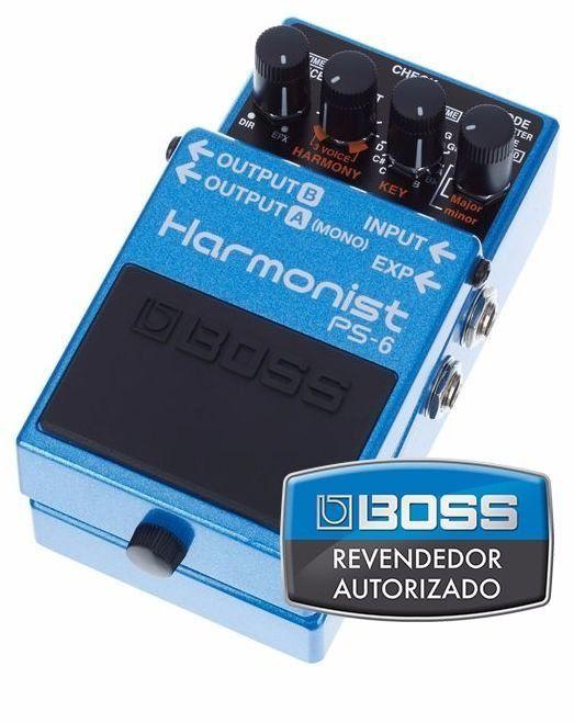 Pedal de Efeito Boss Harmonist Pitch Shifter PS6 para Guitarra